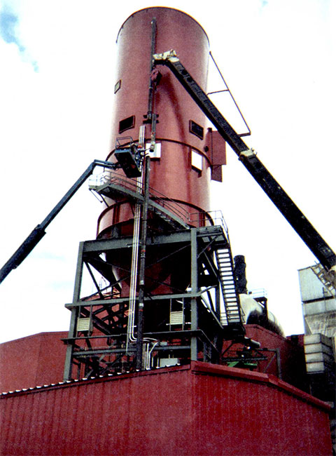 University of Illinois Ash Silo Erection