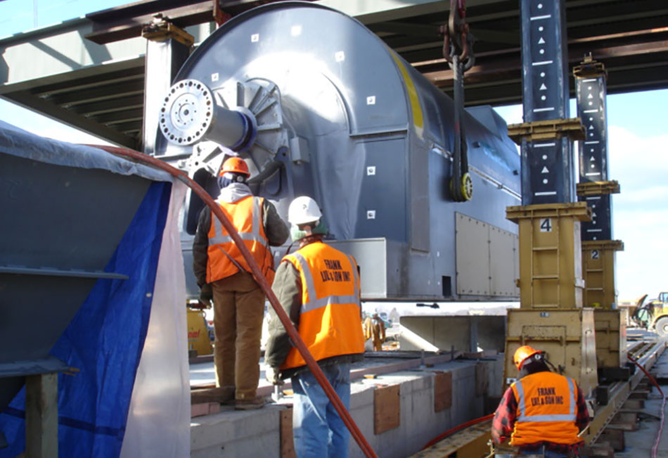 Kleen Energy - 300+ton Combustion Turbine Generator Setting