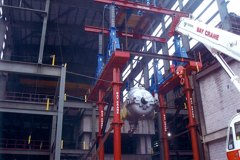 Kleen Energy - Siemens STG HP Section (Aprox. 200Tons) Being Lifted into Place